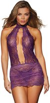 Dreamgirl Women's Halter Chemise with Panty