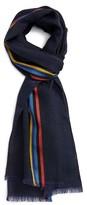 Paul Smith Men's Stripe Wool & Silk Scarf