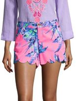 Lilly Pulitzer Buttercup Scallop-Hem Shorts