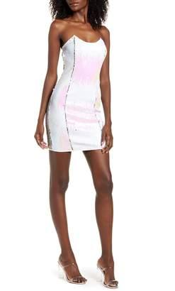 4SI3NNA the Label Alina Strapless Sequin Minidress