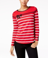 Charter Club Petite Cotton Embellished Top, Created for Macy's