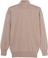 Tom Ford Cashmere And Silk-blend Turtleneck Sweater - Beige