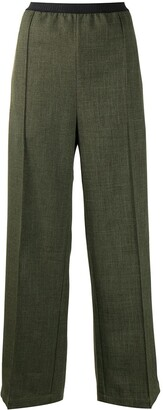 Plan C Grisalle straight leg cotton trousers