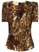 Isabel Marant Udell leopard-printed velvet top