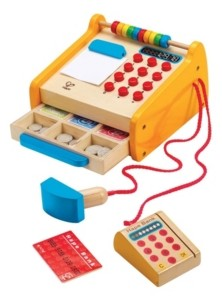 Hape Toys Kids Wooden Checkout Store Cash Register Educational Pretend Playset