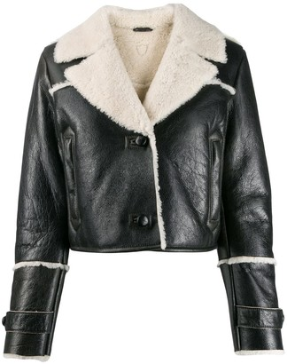 HTC Los Angeles two-tone cropped jacket