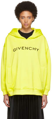 Givenchy Yellow Logo Hoodie