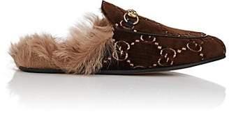 Gucci Women's Velvet Slippers - Brown