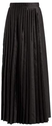 MM6 MAISON MARGIELA Pleated Satin Maxi Skirt - Womens - Black