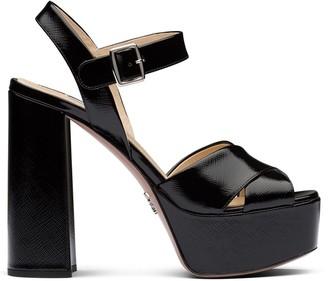Prada Patent Chunky Sandals