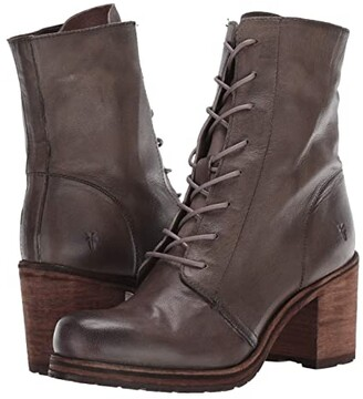 Frye Karen Combat (Black Vegetable Tan Leather) Women's Boots