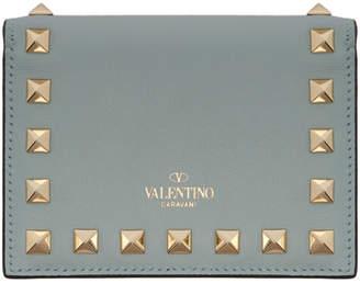 Valentino Blue Garavani Small Rockstud Wallet