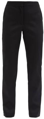 Carolina Herrera High-rise Wool-blend Tailored Trousers - Black