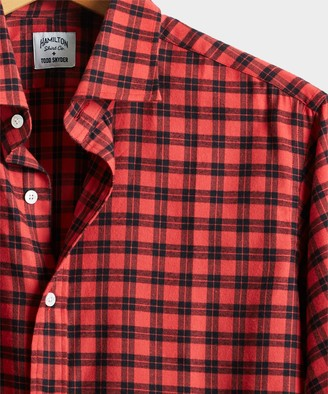 Hamilton Made in USA + Todd Snyder Brushed Twill Lumberjack Plaid Dress Shirt