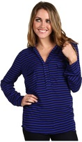 Splendid Striped Shirt Tunic Women's Long Sleeve Pullover