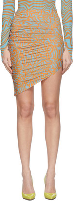 MAISIE WILEN SSENSE Exclusive Orange and Blue Patterned Miniskirt