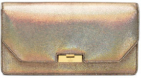 Gucci Crackled Metallic Leather Clutch Bag, Fawn