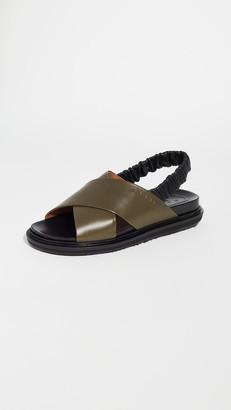 Marni Fussbett Crisscross Slingback Sandals