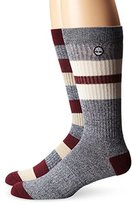Timberland Men's 2 Pack Rugby Stripe Cotton Crew Sock