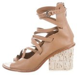 Tibi Leather Lace-Up Sandals