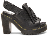 Dr. Martens Seraphina Slingback Kiltie Sandal in Black