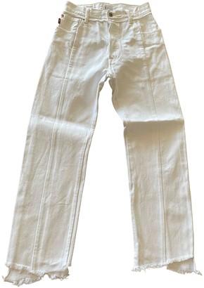 Vetements White Cotton Jeans for Women