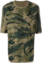 MHI camouflage print T-shirt
