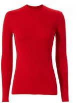 Joseph Ribbed Cashmere Sweater: Red