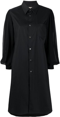Comme des Garcons Sheer Sleeve Loose Fit Shirt Dress