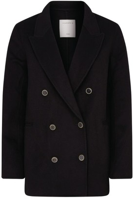 Sandro Wool-Blend Double-Breasted Blazer