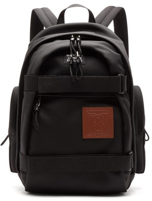 Burberry Cooper Tb-patch Backpack - Mens - Black