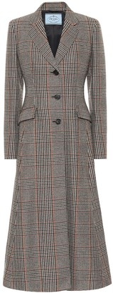 Prada Checked stretch-wool coat