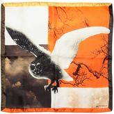 Etro Owl Printed Satin Pocket Square
