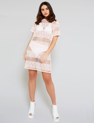 Public Desire Uk Crochet Mesh T-Shirt Dress