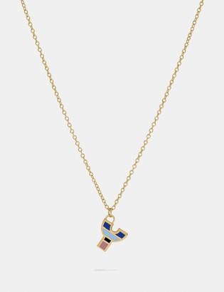Coach 80'S Retro Alphabet Y Charm Necklace