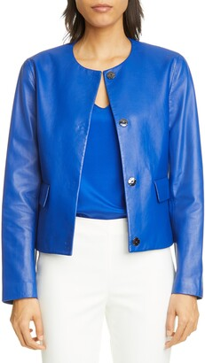 St. John Ultimate Nappa Leather Jacket