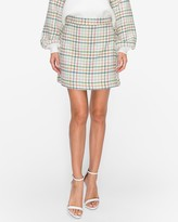 Express English Factory Plaid H-Line Skirt