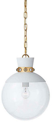 Julie Neill For Visual Comfort Lucia Pendant - White/Gold