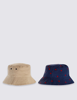 Marks and Spencer Kids' 2 Pack Pure Cotton Assorted Hats