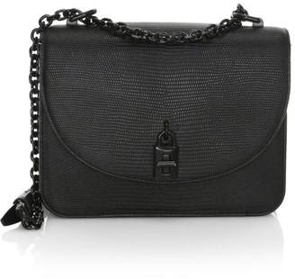Rebecca Minkoff Love Too Lizard-Embossed Leather Shoulder Bag