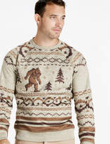 Lucky Brand Shearless Fleece Monster Crew Sweater