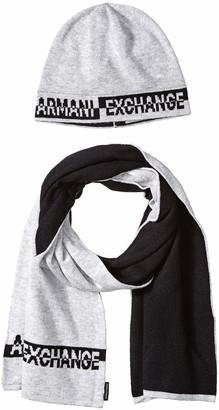 Armani Exchange Men's Knitwear Scarf Hat & Glove Set