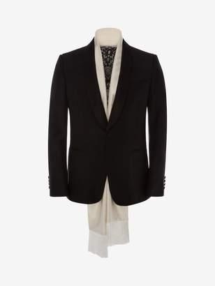 Alexander McQueen Evening Scarf Tuxedo Jacket