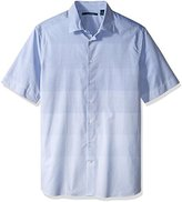 Perry Ellis Men's Big and Tall Horizontal Stripe Shirt