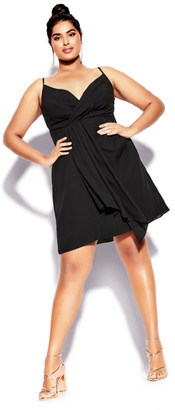City Chic Delectable Dress - black