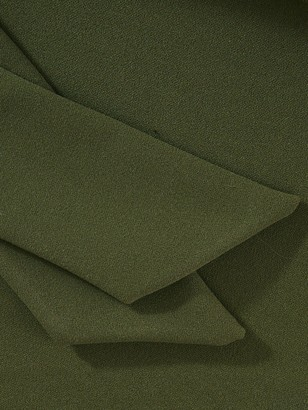 Quiz Curve Scuba Crepe Lapel Tie Blazer - Khaki