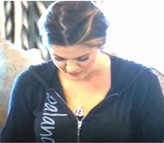 Peace Love World I am balance Hoodie in Black as seen on Khloe Kardashian