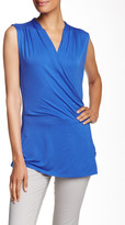 Laundry by Shelli Segal Sleeveless Surplice Blouse