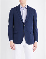 Armani Collezioni Classic-fit Houndstooth Jacket
