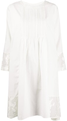 Renli Su Midi Dress With Lace Trim